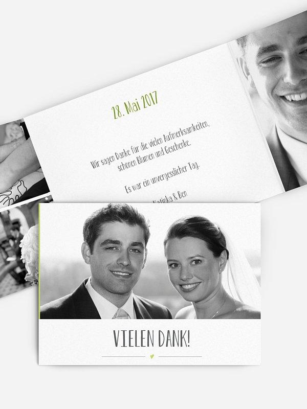 Dankeskarte Hochzeit Flitterwerk