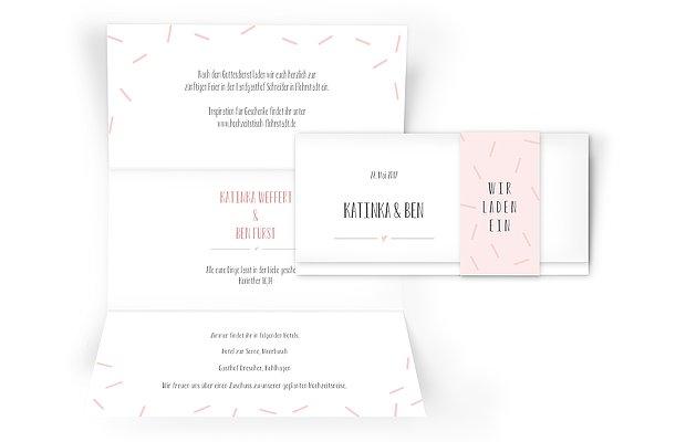 Hochzeitseinladung Flitterwerk