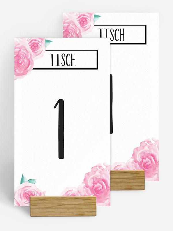 Tischnummer Pink Peony