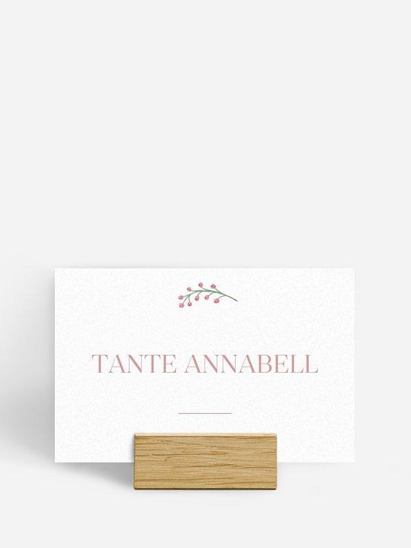 Tischkarte Hochzeit Rosehip
