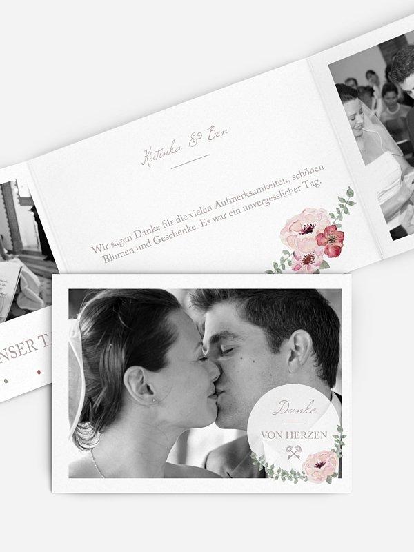 Dankeskarte Hochzeit Lovely Vintage