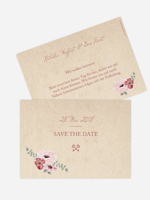 Save-the-Date Karte Lovely Vintage