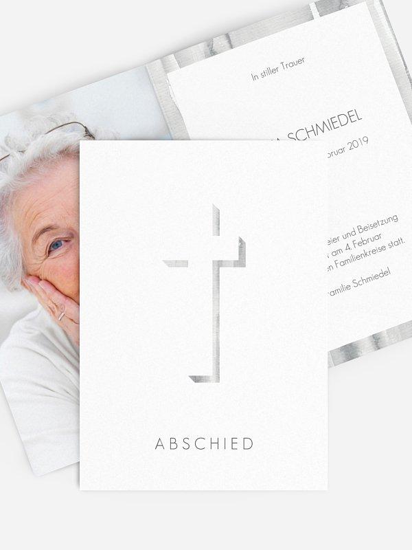 Trauerkarte Abstrakt