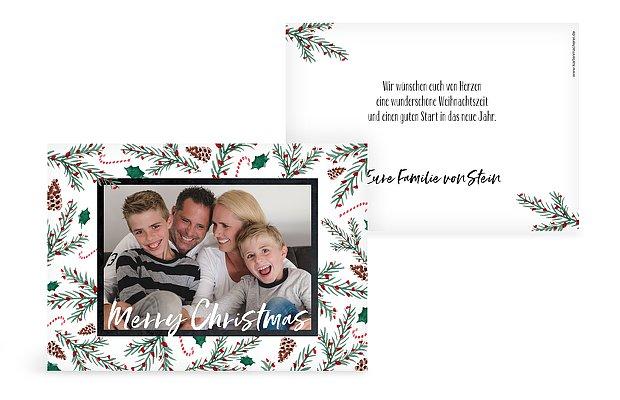weihnachtskarten mit foto ganz einfach online gestalten. Black Bedroom Furniture Sets. Home Design Ideas