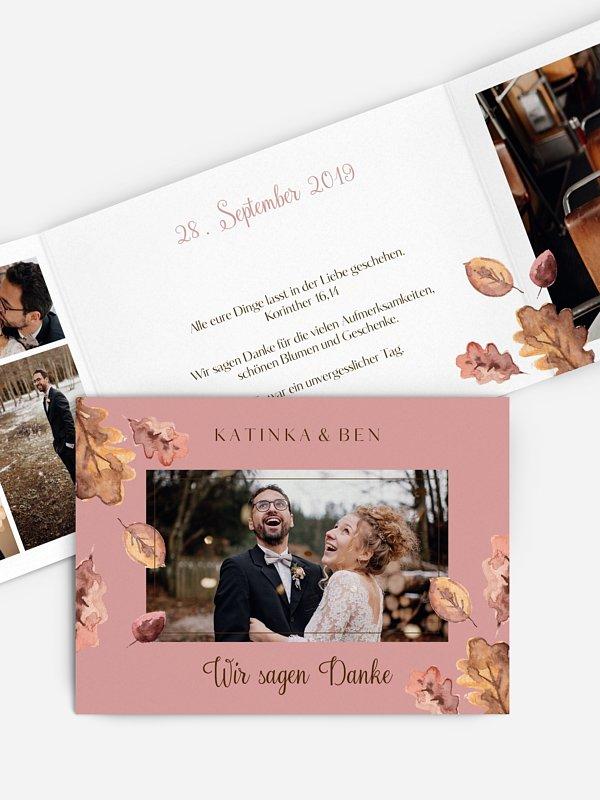 Dankeskarte Hochzeit Herbsttag