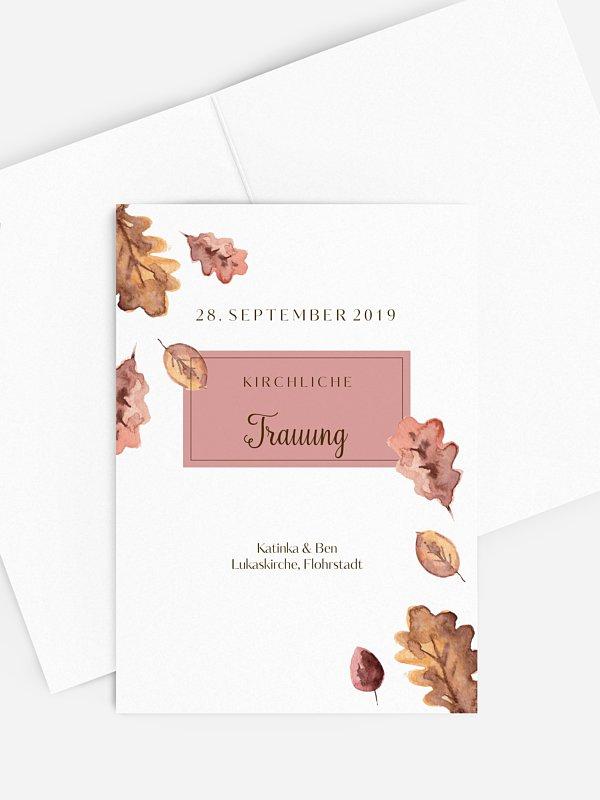 Kirchenheft Hochzeit Herbsttag
