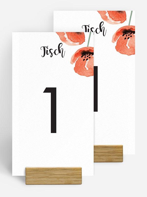Tischnummer Mohn Amour