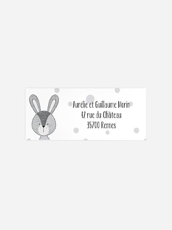 Étiquette expéditeur naissance Baby Bunny