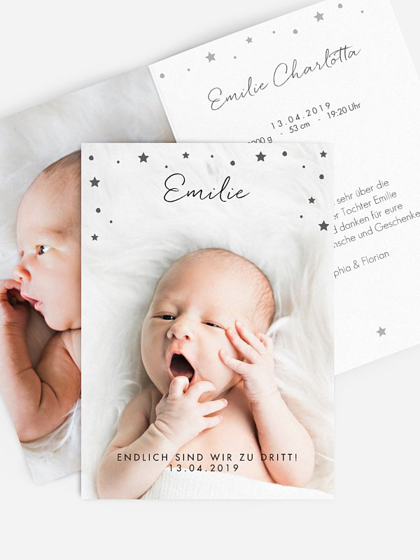 Geburtskarte Perfectly