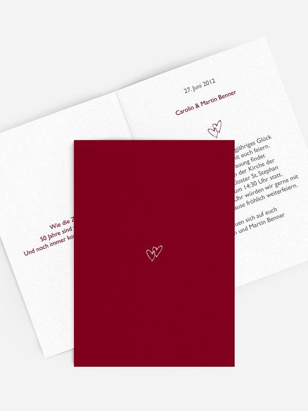 Einladung zur Goldenen Hochzeit Herz