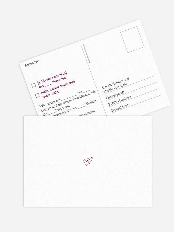 Antwortkarte Hochzeit Herz