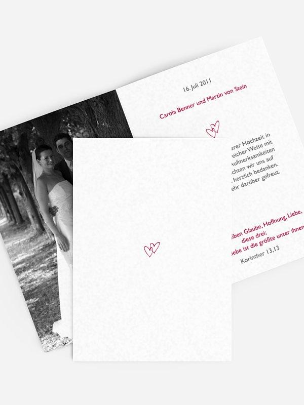 Dankeskarte Hochzeit Herz