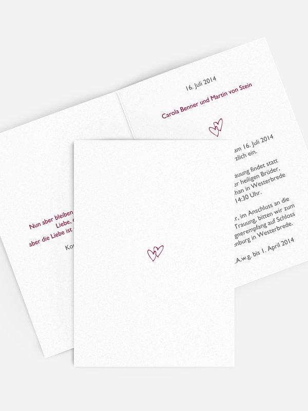 Hochzeitseinladung Herz