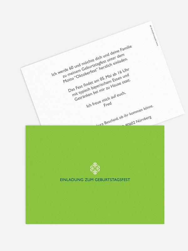 Einladung 60. Geburtstag Ornament