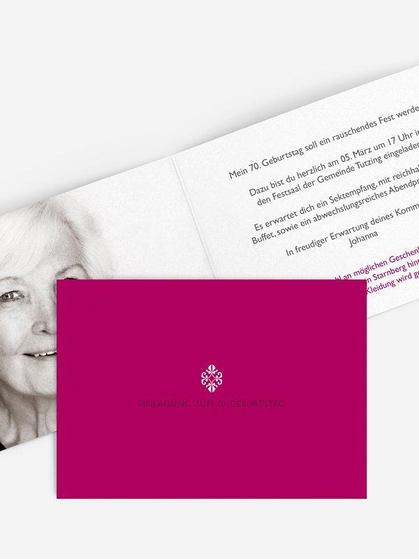 Einladung 70. Geburtstag Ornament