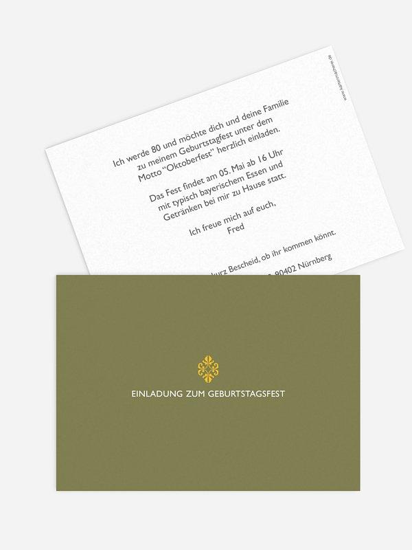 Einladung 80. Geburtstag Ornament
