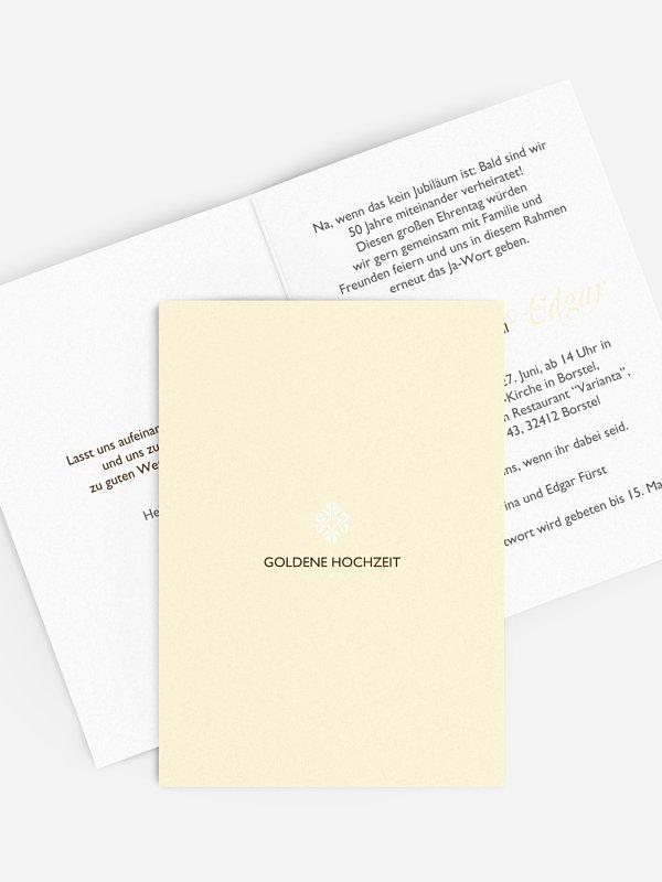 Einladung zur Goldenen Hochzeit Ornament
