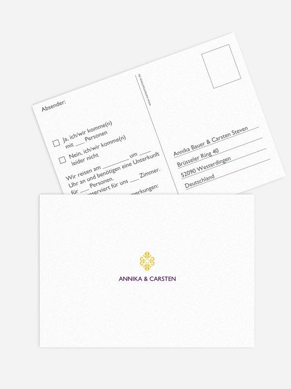 Antwortkarte Hochzeit Ornament