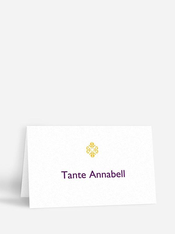Tischkarte Hochzeit Ornament