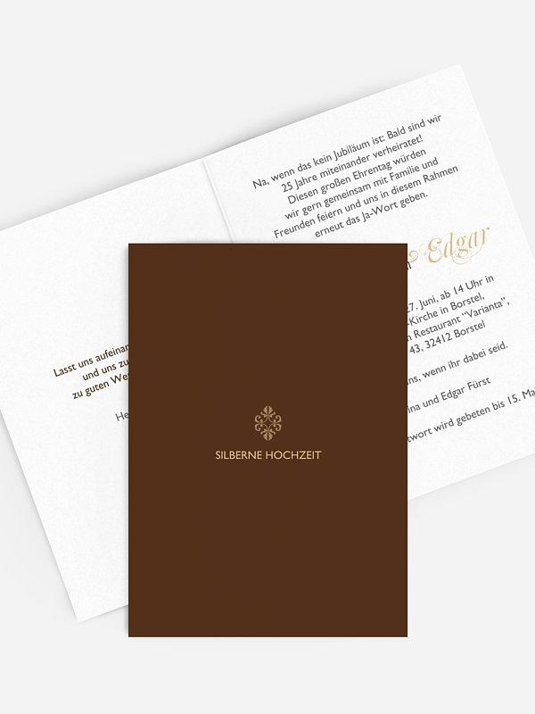 Einladung zur Silberhochzeit Ornament
