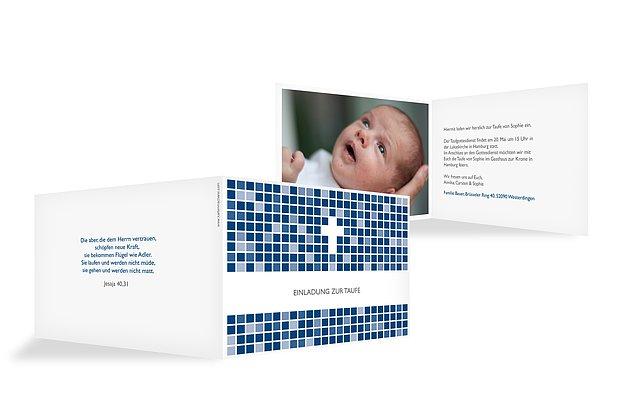 Taufeinladung Mosaik