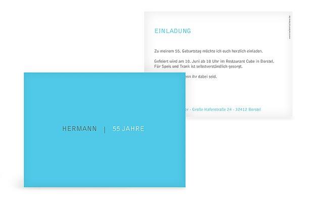 """Einladungskarte """"Freiraum"""""""