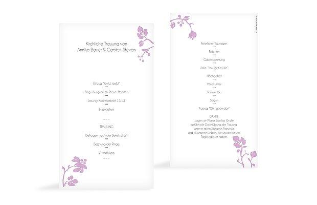 Kirchenheft Hochzeit Blattzart