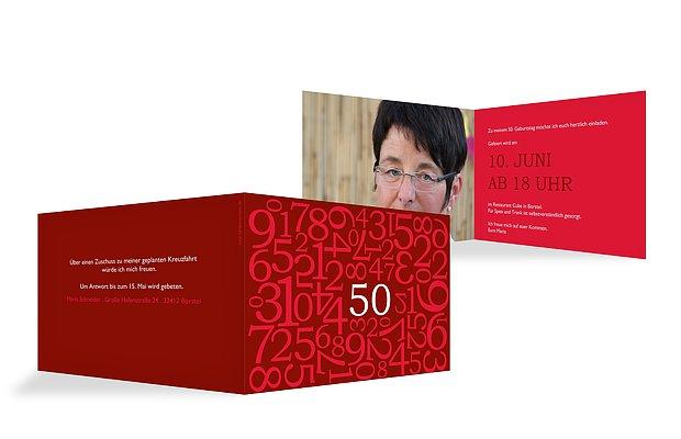 Einladung 50. Geburtstag Zahlen