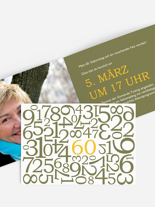 Einladung 60. Geburtstag Zahlen