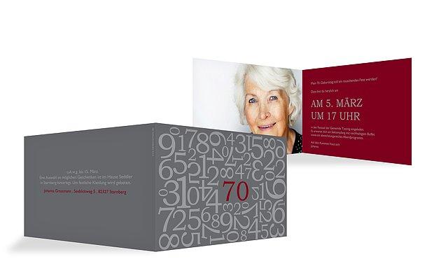 Einladung 70 Geburtstag Zahlen
