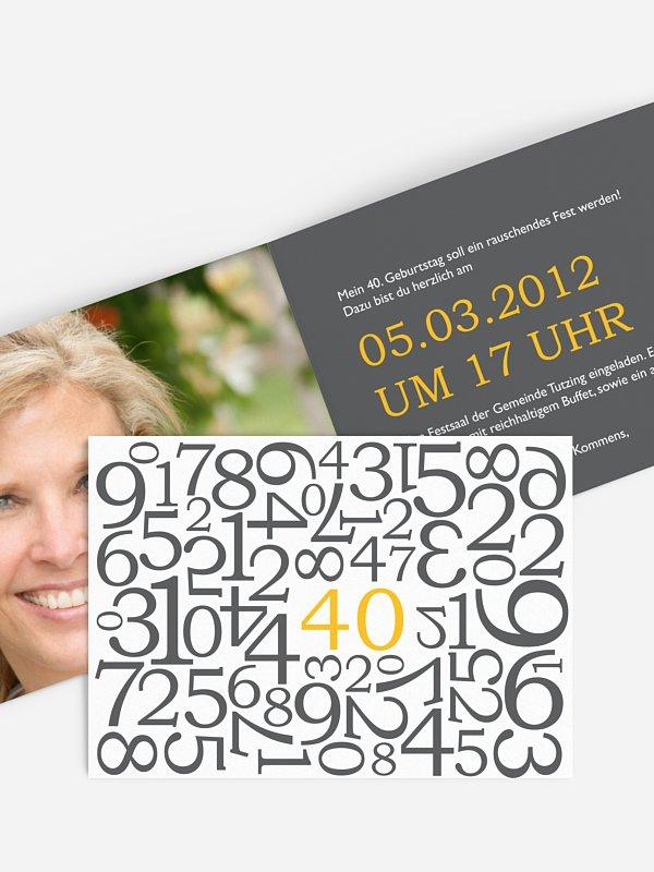 Geburtstagseinladung Zahlen