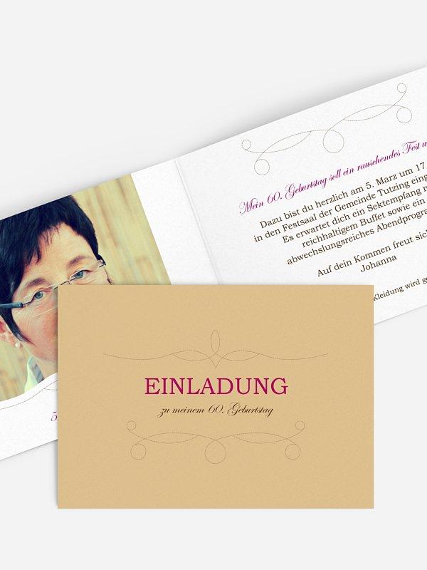 Einladung 60. Geburtstag Feinart