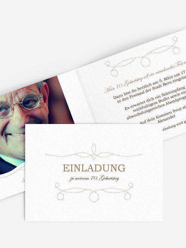 Einladung 70. Geburtstag Feinart