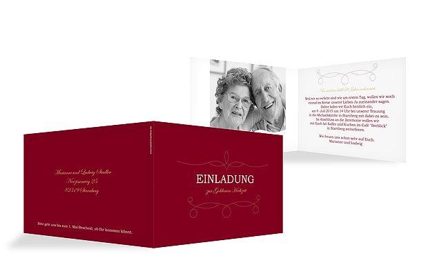Einladung Goldene Hochzeit Feinart