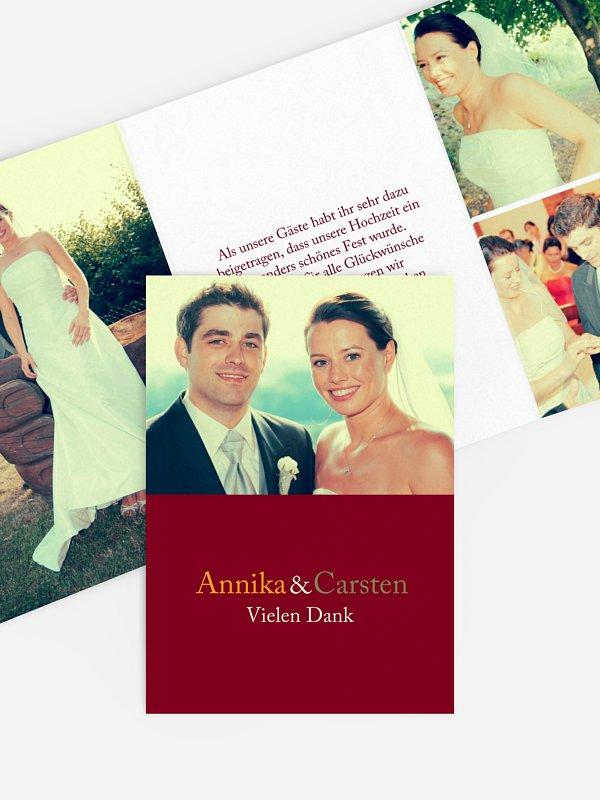 Dankeskarte Hochzeit Zweisam