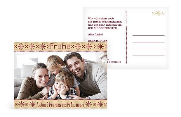 """Weihnachtskarte """"Kreuzstich"""""""