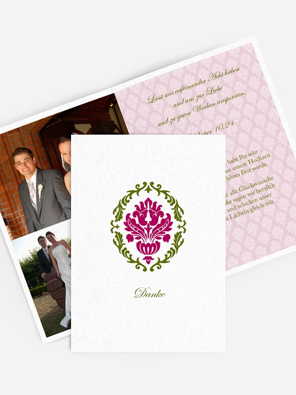 Dankeskarte Hochzeit Barock
