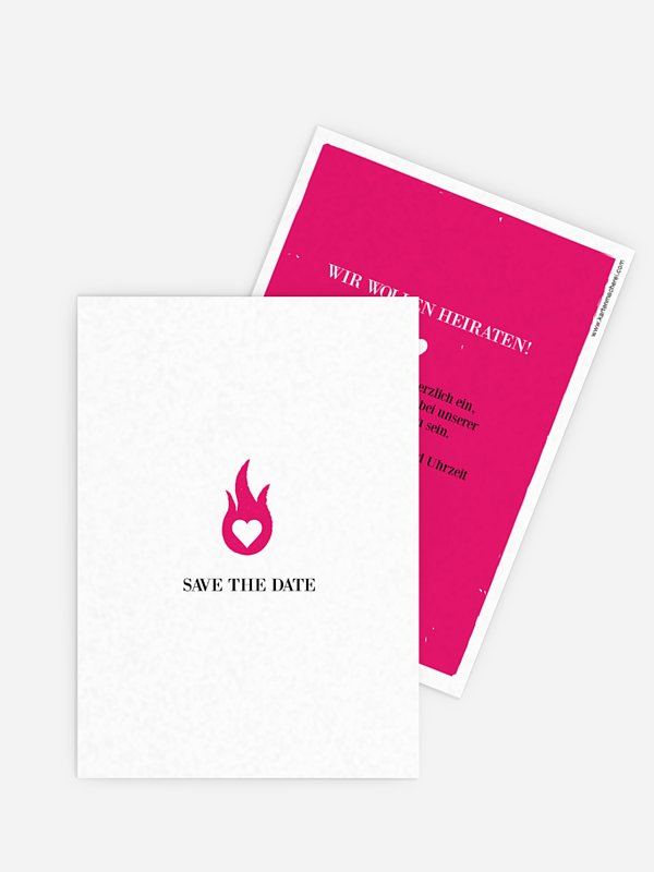Save-the-Date Karte Flamme