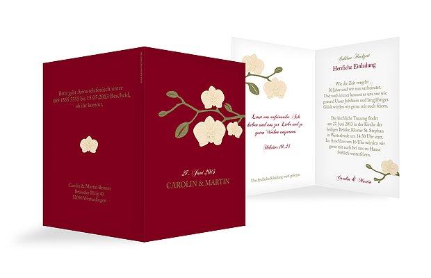 Einladung Goldene Hochzeit Orchidee