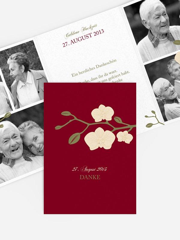 Danksagung zur Goldenen Hochzeit Orchidee