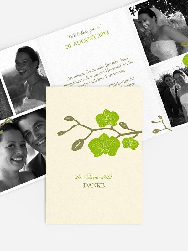 Dankeskarte Hochzeit Orchidee