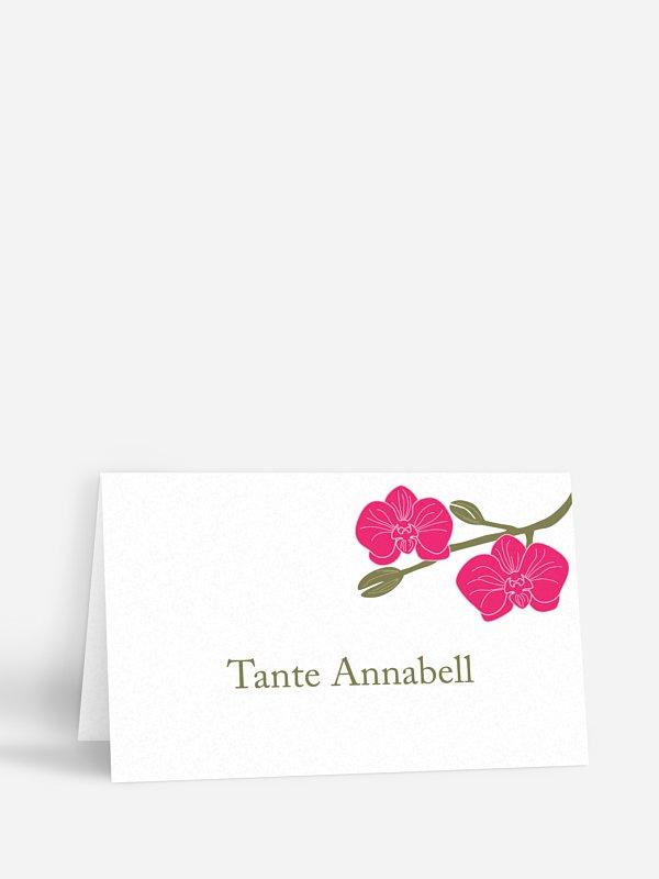 Tischkarte Hochzeit Orchidee
