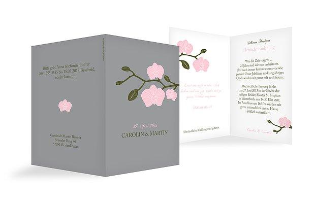 Einladung silberhochzeit orchidee - Silberhochzeit einladung ...