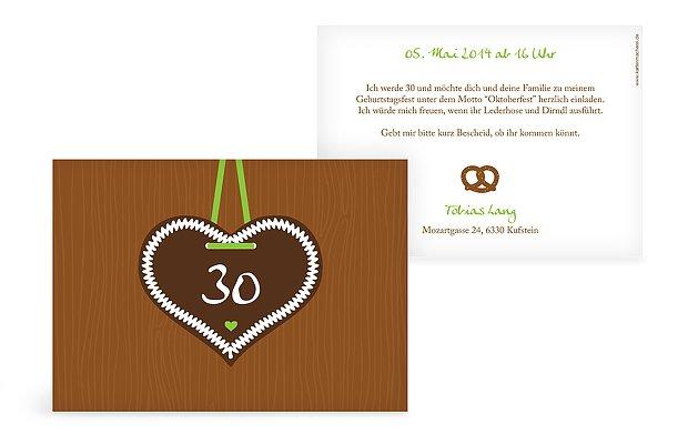 Einladung 30. Geburtstag Zünftig