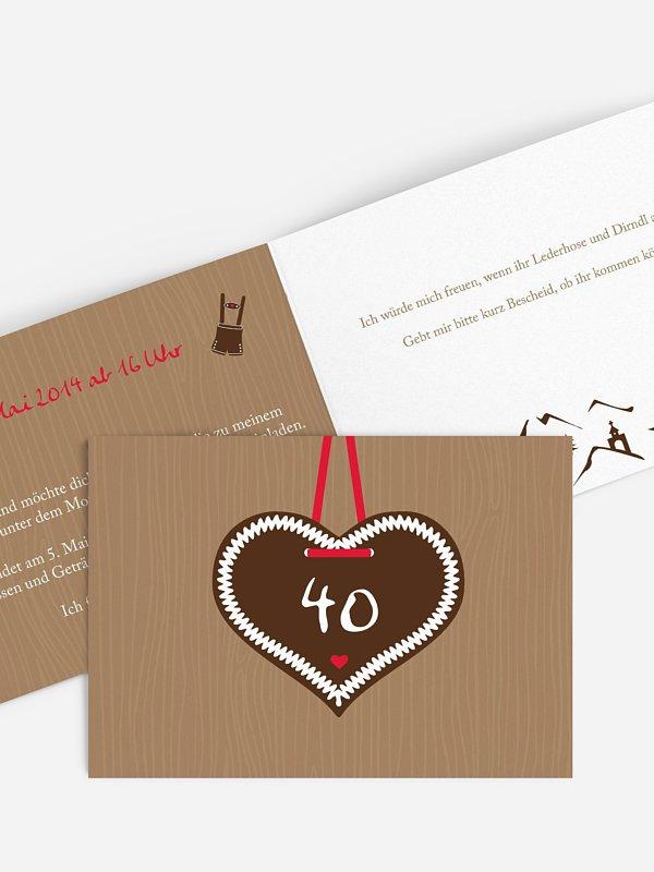 Einladung 40. Geburtstag Zünftig