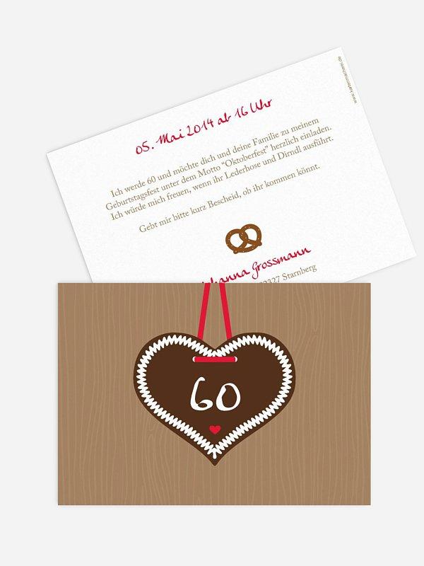 Einladung 60. Geburtstag Zünftig