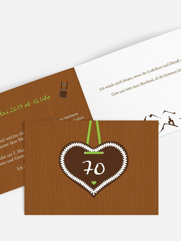 Einladung 70. Geburtstag Zünftig