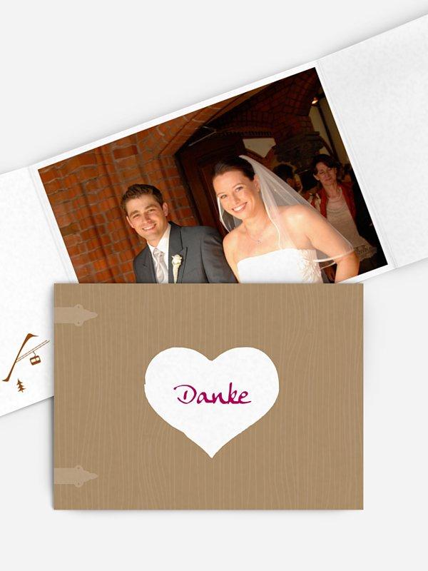 Dankeskarte Hochzeit Zünftig