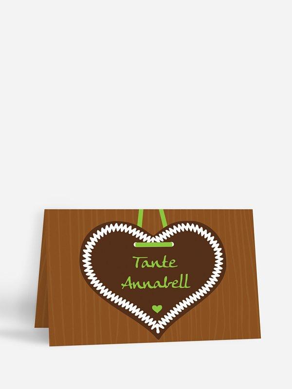 Tischkarte Hochzeit Zünftig