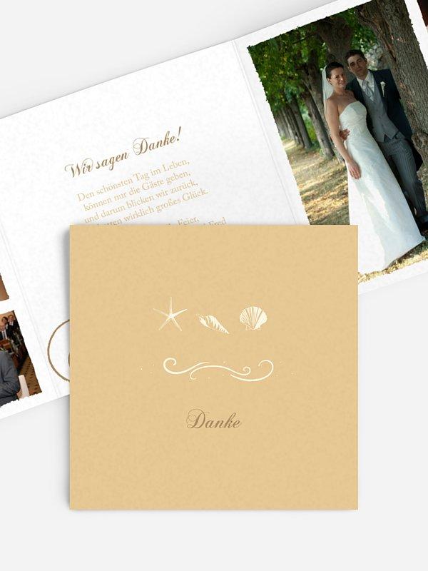 Dankeskarte Hochzeit Beach